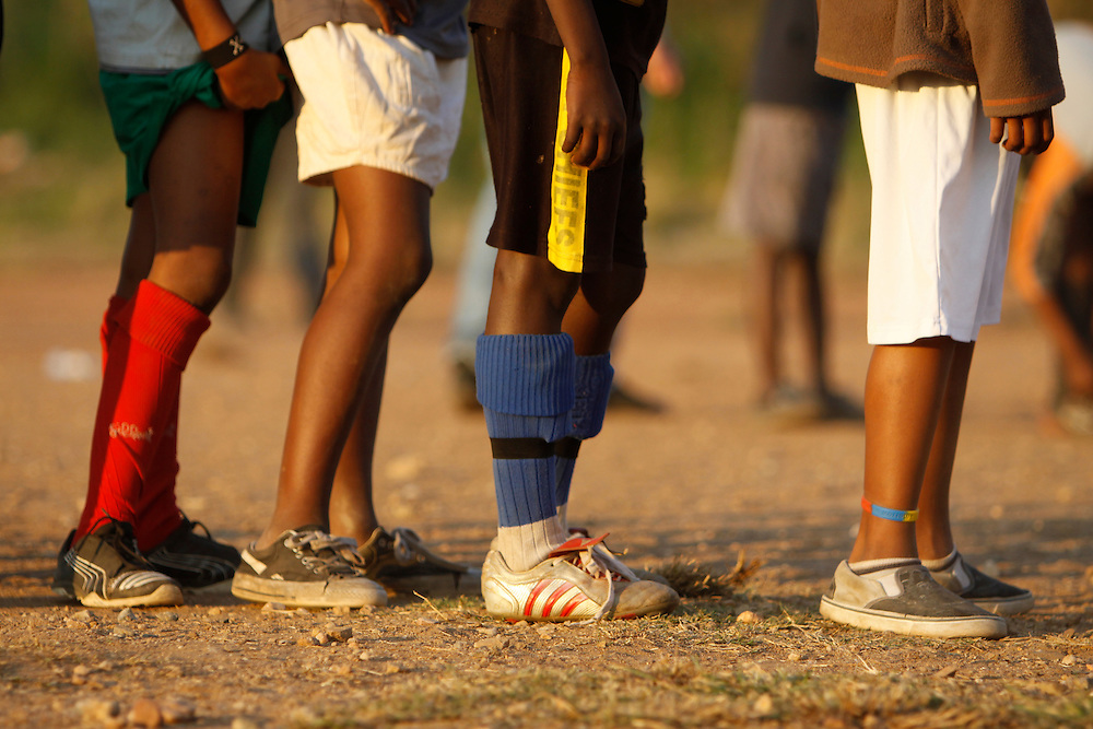 Red Roses Football team training session. Alexandra township. Johannesburg. South Africa...Pictures by Zute and Demelza Lightfoot