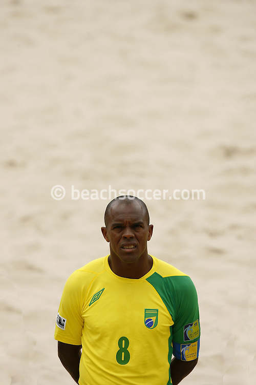Football-FIFA Beach Soccer World Cup 2006 - Group A- Brazil - USA, Beachsoccer World Cup 2006. Brasilian's Junior Negao - Rio de Janeiro - Brazil 07/11/2006. Mandatory credit: FIFA/ Manuel Queimadelos