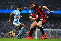 Jack Simpson of Bournemouth tackles Raheem Sterling of Manchester City - Mandatory by-line: Matt McNulty/JMP - 23/12/2017 - FOOTBALL - Etihad Stadium - Manchester, England - Manchester City v Bournemouth - Premier League