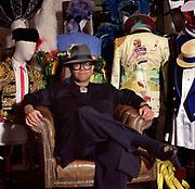 Elton John sells clothes 1986