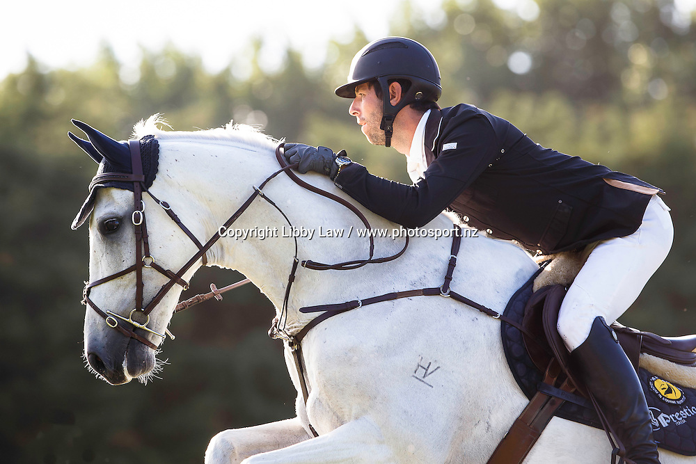 NZL-Clarke Johnstone (BALMORAL SENSATION) FINAL-2ND: MAXLIFE INVITATIONAL HORSE DERBY 1.20-1.25M AM5: 2016 NZL-Continental Cars Audi World Cup Showjumping (Saturday 16  January) CREDIT: Libby Law COPYRIGHT: LIBBY LAW PHOTOGRAPHY