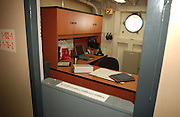 The Executive Officers office, just as he left it when the final Coast Guard crew delivered the ship to the Icebreaker Mackinaw Maritime Musem group in Mackinaw City, Michigan