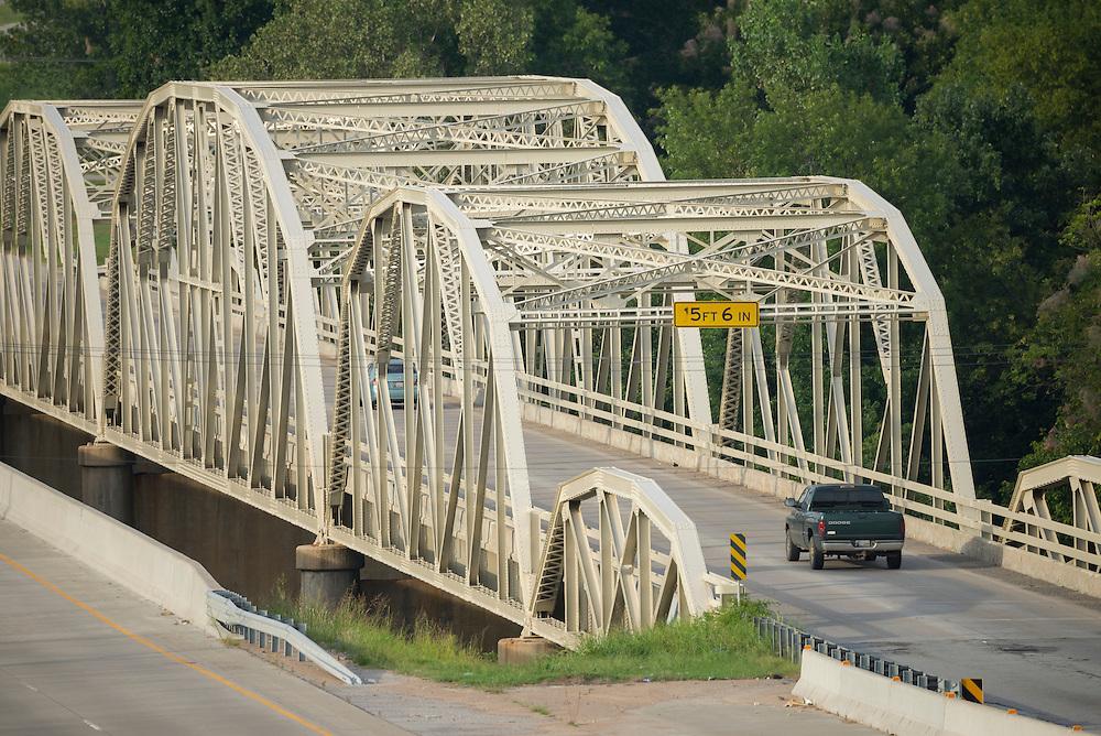 USA,Midwest,Oklahoma, Route 66 , Catoosa,Vendigris river bridge