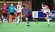 BILTHOVEN - Roderick Tam (SCHC) met rechts Jonas de Geus (Almere)  tijdens de competitiewedstrijd heren,  SCHC-Almere (3-2) . COPYRIGHT KOEN SUYK