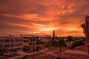 Redington Beach, Florida, USA., Friday, 18.10.19, Sunrise in the neighbourhood ,<br /> <br /> [Mandatory Credit; Pete SPURRIER]