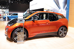 11 February 2016: BMW i3.<br /> <br /> First staged in 1901, the Chicago Auto Show is the largest auto show in North America and has been held more times than any other auto exposition on the continent.  It has been  presented by the Chicago Automobile Trade Association (CATA) since 1935.  It is held at McCormick Place, Chicago Illinois<br /> #CAS16