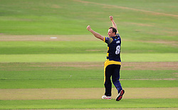 Graham Wagg of Glamorgan celebrates the wicket of James Hildreth.  - Mandatory by-line: Alex Davidson/JMP - 22/07/2016 - CRICKET - Th SSE Swalec Stadium - Cardiff, United Kingdom - Glamorgan v Somerset - NatWest T20 Blast