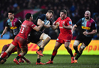 Rugby Union - 2019 / 2020 Gallagher Premiership - Harlequins vs. Saracens<br /> <br /> Harlequins' Alex Dombrandt is tackled by Saracens' Alex Lozowski, at The Stoop.<br /> <br /> COLORSPORT/ASHLEY WESTERN