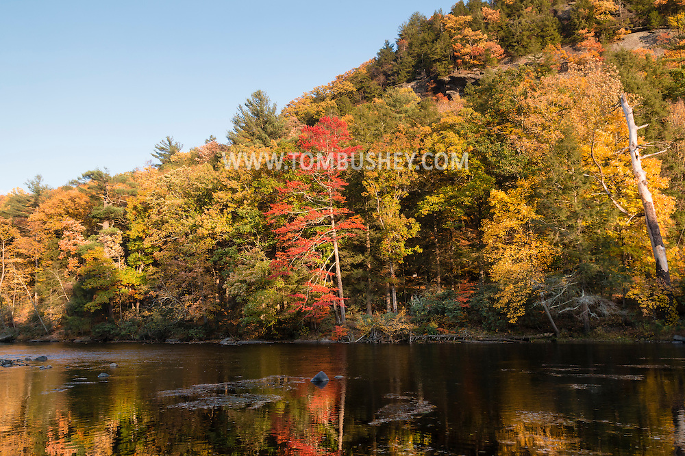Myers Grove, New York - Autumn scenes along the Neversink River on Oct. 18, 2016.