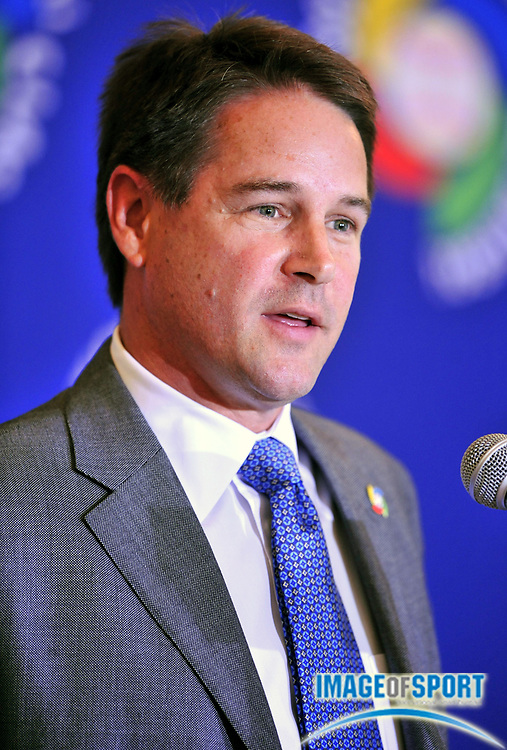 Jul 31, 2008; Los Angeles, CA, USA; Major League Baseball International senior vice president Paul Archey at press conference to announce selection of Dodger Stadium as the site of the 2009 World Baseball Classic championship.