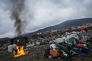 Mitrovica is one of Europe's most polluted cities. 33 million tonnes of lead-heavy mine tailings is stored under the open skies, and industrial waste is regularly burned outside.