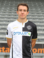 14.07.2015, Scholz Arena, Aalen, GER, 2. FBL, VfR Aalen, Fototermin, im Bild Nico Zahner ( VfR Aalen ) // during the official Team and Portrait Photoshoot of German 2nd Bundesliga Club VfR Aalen at the Scholz Arena in Aalen, Germany on 2015/07/14. EXPA Pictures © 2015, PhotoCredit: EXPA/ Eibner-Pressefoto/ Langer<br /> <br /> *****ATTENTION - OUT of GER*****