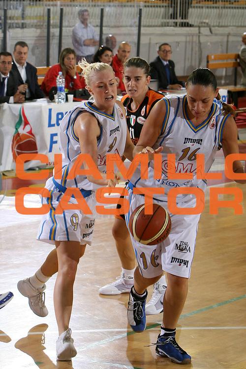 DESCRIZIONE : Roma Lega A1 Femminile 2008-09 Prima giornata Campionato GMA Phonica Pozzuoli Famila Wuber Schio<br /> GIOCATORE : Johanna Frida Aili Adriana Grasso<br /> SQUADRA : GMA Phonica Pozzuoli<br /> EVENTO : Campionato Lega A1 Femminile 2008-2009 <br /> GARA : GMA Phonica Pozzuoli Famila Wuber Schio<br /> DATA : 11/10/2008 <br /> CATEGORIA : palleggio<br /> SPORT : Pallacanestro <br /> AUTORE : Agenzia Ciamillo-Castoria/E.Castoria<br /> Galleria : Lega Basket Femminile 2008-2009 <br /> Fotonotizia : Roma Lega A1 Femminile 2008-09 Prima giornata Campionato GMA Phonica Pozzuoli Famila Wuber Schio<br /> Predefinita :