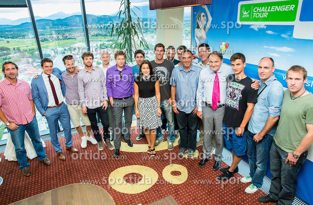 Social event for media and sponsors to promote ATP Challenger Tilia Slovenia Open in Portoroz 7th - 13th July 2014 on July 2, 2014 at Kristalna palaca in BTC, Ljubljana, Slovenia. Photo By Vid Ponikvar / Sportida