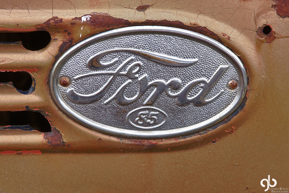I found this Ford Motor Company side ornament in Bozeman, Montana