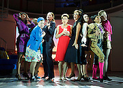 Pedro Almodovar's<br /> Women on the Verge of a nervous breakdown The Musical <br /> at the Playhouse Theatre, London, Great Britain <br /> press photocall<br /> 23rd December 2014 <br /> <br /> Tamsin Greig as Pepa <br /> <br /> Haydn Gwynne as Lucia <br /> <br /> Anna Skellern as Candela <br /> <br /> Willemijn Verkaik as Paulina <br /> <br /> Seline Hizli as Marisa <br /> <br /> Sarah Moyle as Concierge <br /> <br /> Rebecca McKinnis as Christina <br /> <br /> Photograph by Elliott Franks <br /> Image licensed to Elliott Franks Photography Services