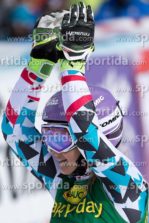 22.10.2016, Rettenbachferner, Soelden, AUT, FIS Weltcup Ski Alpin, Soelden, Riesenslalom, Damen, 2. Durchgang, im Bild Michaela Kirchgasser (AUT) // Michaela Kirchgasser of Austria reacts after her 2nd run of ladies Giant Slalom of the FIS Ski Alpine Worldcup opening at the Rettenbachferner in Soelden, Austria on 2016/10/22. EXPA Pictures © 2016, PhotoCredit: EXPA/ Johann Groder