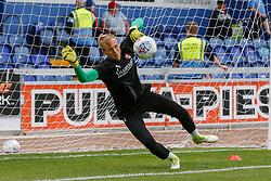 Marek Rodak of Rotherham United makes a diving save during a warm-up routine - Mandatory by-line: Ryan Crockett/JMP - 28/07/2018 - FOOTBALL - One Call Stadium - Mansfield, England - Mansfield Town v Rotherham United - Pre-season friendly