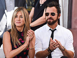 Jennifer Aniston and Justin Theroux are seen at their last public appearance together when they attended the ceremony honoring Jason Bateman with a star on The Hollywood Walk Of Fame on July 26, 2017 in Hollywood, California. 15 Feb 2018 Pictured: Jennifer Aniston and Justin Theroux. Photo credit: IPA/MEGA TheMegaAgency.com +1 888 505 6342
