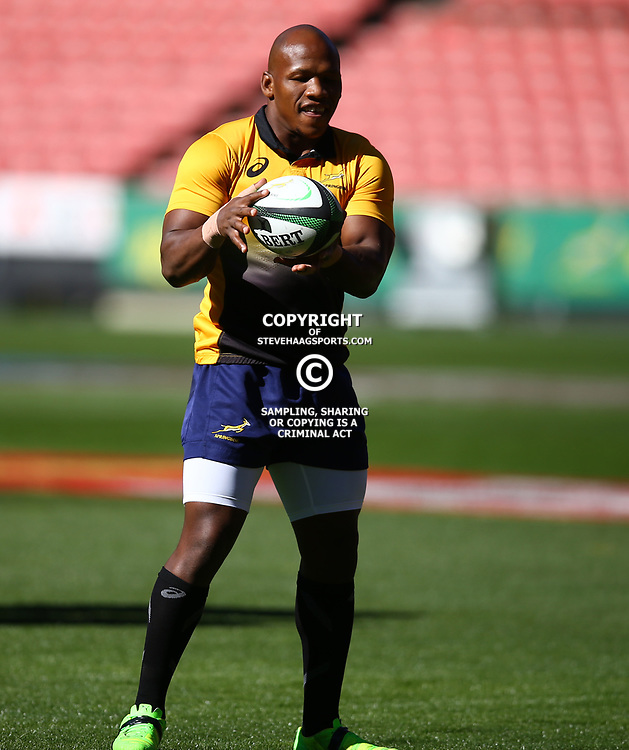 Bongi Mbonambi of South Africa during the South African - Springbok Captain's Run at Emirates Airline Park,<br /> Johannesburg .South Africa. 08,06,2018 Photo by (Steve Haag Sports)