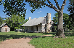 Johnson Settlement recreates a Texas farm as it looked during Lyndon B. Johnson's early life.This dog-trot cabin was constructed in 1867 by the grandfather of Lyndon B. Johnson and served as the headquarters for the family cattle driving business.