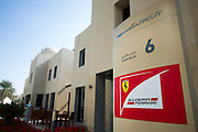 November 21-23, 2014 : Abu Dhabi Grand Prix, Ferrari building in the Abu Dhabi paddock
