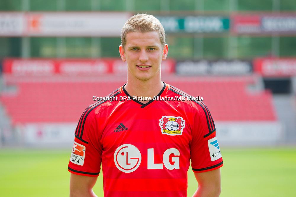 German Soccer Bundesliga - Photocall Bayer 04 Leverkusen on August 4th 2014: Lars Bender.