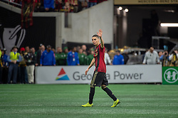 December 8, 2018 - Atlanta, Georgia, United States - Atlanta United midfielder MIGUEL ALMIRON (10) heads off the field during a substitution at the MLS Cup at Mercedes-Benz Stadium in Atlanta, Georgia.  Atlanta United defeats Portland Timbers 2-0 (Credit Image: © Mark Smith/ZUMA Wire)