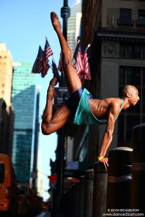 Dance As Art Midtown Manhattan with dancer, Daniel White.