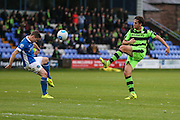 Forest Green Rovers Darren Carter(12) plays a pass during the Vanarama National League match between Macclesfield Town and Forest Green Rovers at Moss Rose, Macclesfield, United Kingdom on 12 November 2016. Photo by Shane Healey.