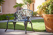 Decorative Cast Iron Park Bench