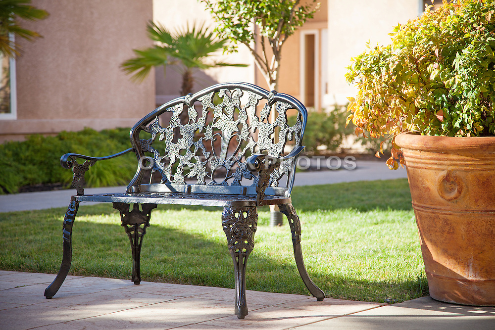 Decorative Cast Iron Park Bench