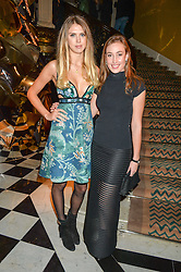Left to right, SABRINA PERCY and LADY TATIANA MOUNTBATTEN at a party to celebrate theunveiling of the Claridge's Christmas Tree designed by Christopher Bailey for Burberryheld at Claridge's, Brook Street, London on 18th November 2015.