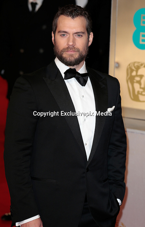 Feb 8, 2015 - EE British Academy Film Awards 2015 - Red Carpet Arrivals at Royal Opera House<br /> <br /> Pictured: Henry Cavill<br /> ©Exclusivepix Media
