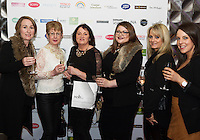 13/11/2015 Repro free  Pamela Connolly, Anne Smith , Dympna Reid, and Jenny Derham from WALLIS and Laura McGinn and Louise Cattigan from Dorothy Perkins lat Galway Glamour  by Galway Shopping Centre at the g Hotel hosted by Sile Seoige  <br /> Photo:Andrew Downes, xposure.