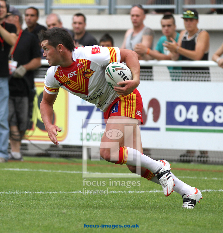 Picture by Richard Gould/Focus Images Ltd. 07710 761829.14/07/12.Clint Greenshields of Catalans Dragons during the Stobart Super League match at the Stade Gilbert Brutus, Perpignan, France.