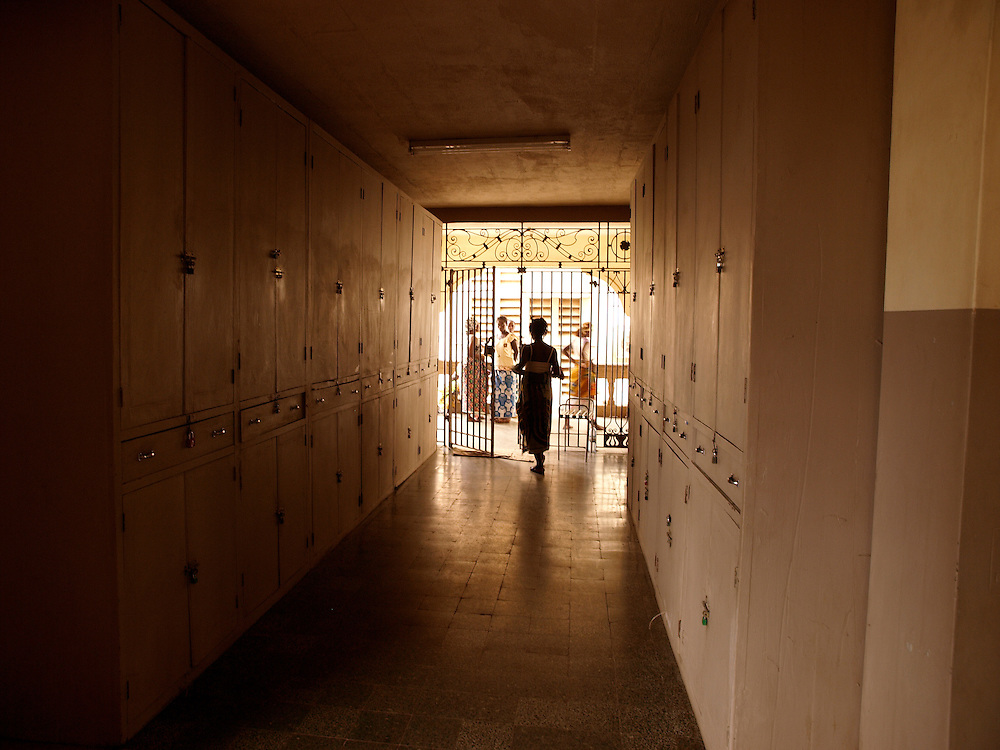 The corridor next to the maternity ward in the hospital.