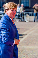 8-5-2017 DEN HAAG  - de Koning Willem-Alexander en Hoogheid Prinses Margriet der Nederlanden zijn maandagmiddag 8 mei in de Ridderzaal in Den Haag aanwezig bij de viering van 150 jaar Nederlandse Rode Kruis. Prinses Margriet is aanwezig in haar hoedanigheid van erevoorzitter van het Rode Kruis.COPYRIGHT ROBIN UTRECHT<br /> 8-5-2017 THE HAGUE - King William Alexander and Highness Princess Margriet of the Netherlands will attend the celebration of 150 years of the Dutch Red Cross on Monday afternoon, May 8 in the Ridderzaal in The Hague. Princess Margriet is present in her capacity as rector of the Red Cross. COPYRIGHT ROBIN UTRECHT