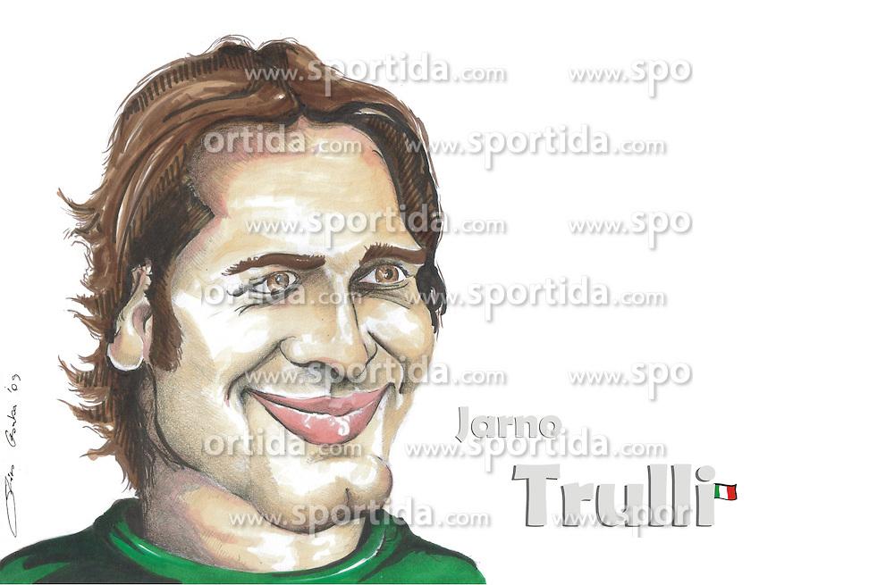 FORMEL 1: Saison 2010, Karrikatur von<br /> Jarno TRULLI (ITA, Lotus Racing)<br /> &Atilde;'&Acirc;&copy; pixathlon