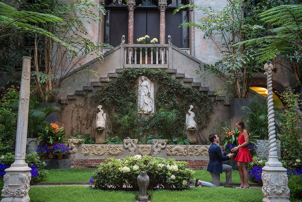 April 17, 2016, Boston, MA:<br /> The engagement of Matthew and Elizabeth at the Isabella Stewart Gardner Museum in Boston, Massachusetts Sunday, April 17, 2016. <br /> (Photo by Billie Weiss/Isabella Stewart Gardner Museum)
