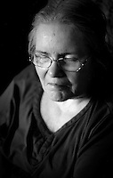 My mother, dying of Lewy Body Disease. Portraits and Headshots on film by Kansas City Photographer Kirk Decker. Shooting With Film