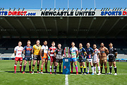 Picture by Allan McKenzie/SWpix.com - 14/05/2018 - Rugby League - Dacia Magic Weekend 2018 Preview - St James Park, Newcastle, England - Super League team representatives (l-r) - Chris Atkin, Tom Johnstone, Luke Burgess, Jesse Sene-Lefao, Geroge Williams, Danny Walker, Tommy Makinson, Tyrone Roberts, Richie Myler, Paul Aiton, Sebastine Ikahihifo, Mark Minichiello.