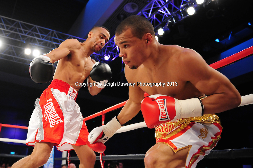 Chris Eubank Jnr defeats Tyan Booth in a Middleweight contest at Glow, Bluewater, Dartford, Kent, UK on 8th June 2013. Promoter: Hennessy Sports. Mandatory Credit: © Leigh Dawney