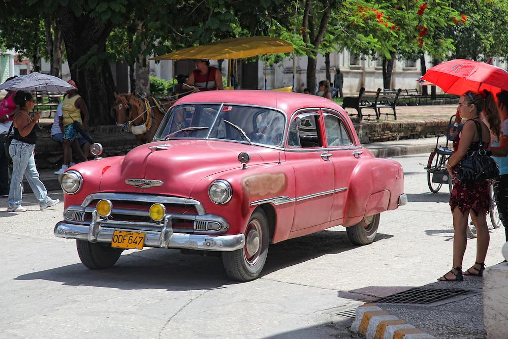 Parque San Jose in Holguin, Cuba.