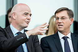 Gianni Infantino, president of FIFA and Miro Cerar, prime minister of Slovenia during Official opening of the Slovenian National football centre Brdo (Nacionalni nogometni center Brdo), on May 6, 2016, in Brdo pri Kranju, Slovenia. Photo by Vid Ponikvar / Sportida