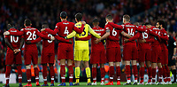 Football - 2018 / 2019 Premier League - Liverpool vs. Huddersfield Town<br /> <br /> Liverpool team observe minutes silence at Anfield.<br /> <br /> COLORSPORT/LYNNE CAMERON