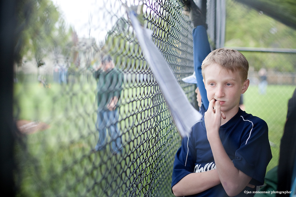 Finn O'rourke at a baseball game in Portland.