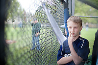 Finn O'rourke at a baseball game in Portland.