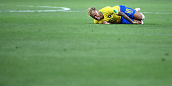 ROSTOV-ON-DON, June 17, 2018  Neymar of Brazil falls down during a group E match between Brazil and Switzerland at the 2018 FIFA World Cup in Rostov-on-Don, Russia, June 17, 2018. (Credit Image: © Li Ga/Xinhua via ZUMA Wire)