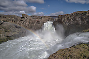 Barnafoss Waterfall in Northeast-Iceland